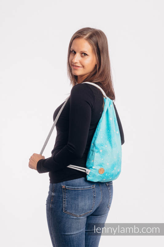 Lenny Lamb - Sackpack made of wrap fabric (96% cotton TWINKLING STARS PERSEIDS