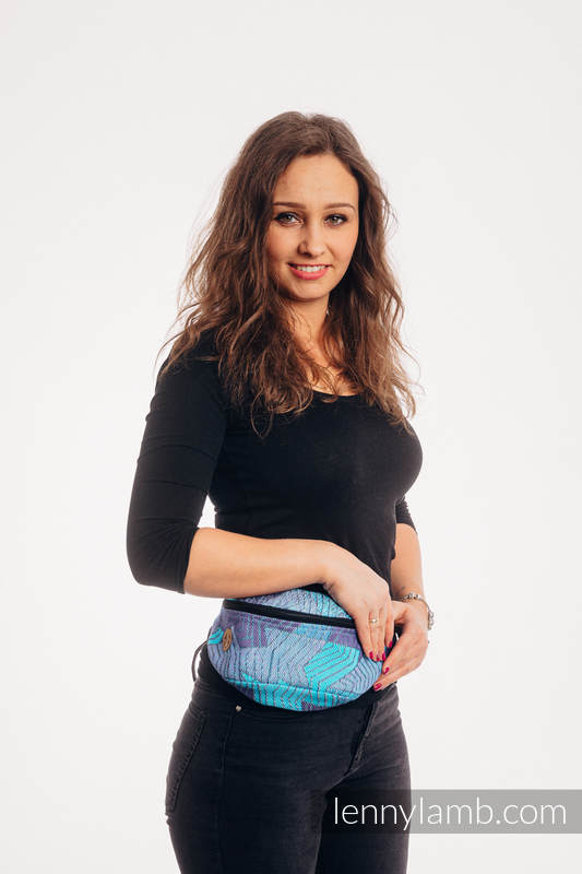 Lenny Lamb - Waist Bag made of woven fabric PRISM BLUE RAY