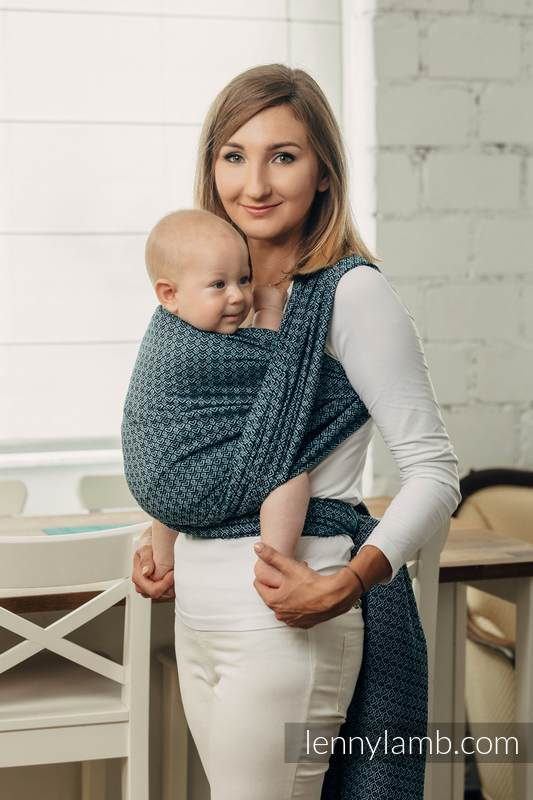 Lenny Lamb - Baby sling for babies with low birthweight LITTLE LOVE OCEAN BLUE M