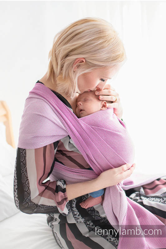 Lenny Lamb - Baby sling for babies with low birthweight LITTLE HERRINGBONE PURPLE M