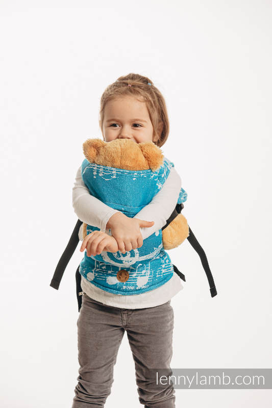 Lenny Lamb - Doll Carrier made of woven fabric SYMPHONY ICY