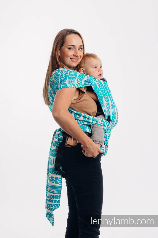 Lenny Lamb - LennyHybrid Half Buckle Carrier SKETCHES OF NATURE SEA GREEN