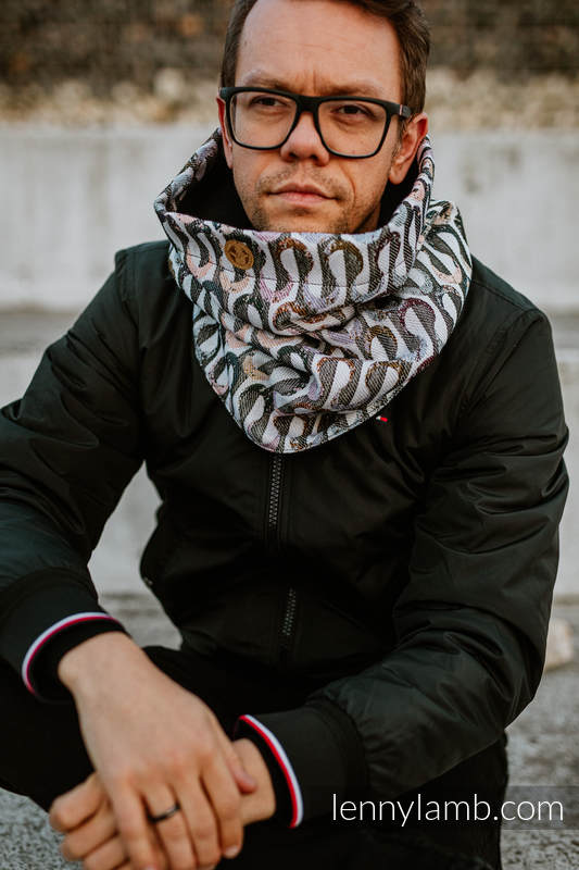 Lenny Lamb - Snood Scarf (Outer fabric - 33% combed cotton EQUILIBRIUM BLACK
