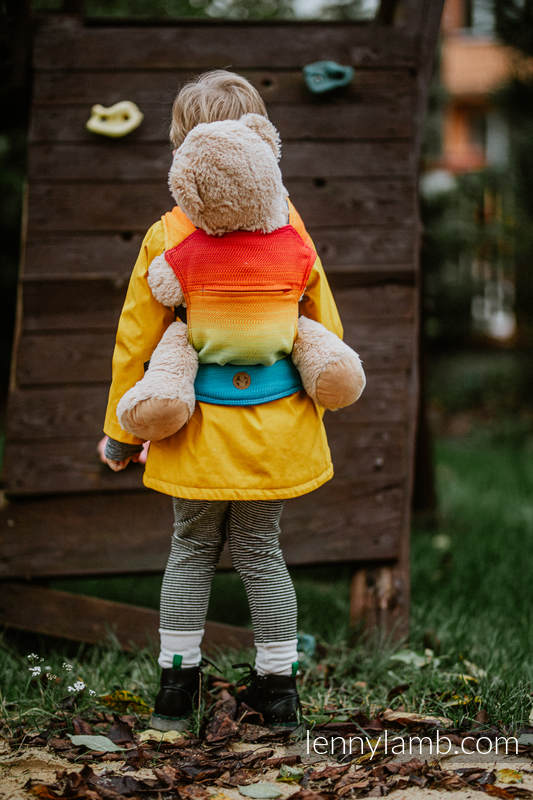 Lenny Lamb - Doll Carrier made of woven fabric RAINBOW BABY