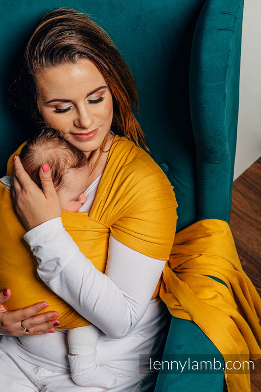 Lenny Lamb - Stretchy/Elastic Baby Sling - Amber - standard size 5.0 m