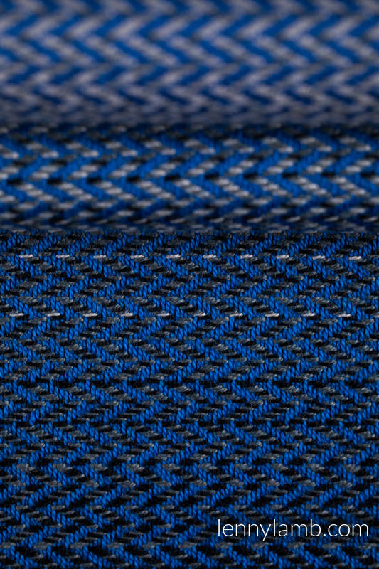Lenny Lamb - Тъкан слинг-шал LITTLE HERRINGBONE OMBRE BLUE M